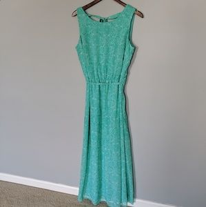 Tacera Mint Turquoise Paisley Maxi with Bow
